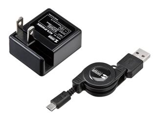 持ち運び便利な充電器になる巻取り式のマイクロUSBコネクタがサンワサプライから発売。2,100円