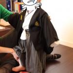 雰囲気十分!購入していた袴風子供服を一歳の誕生日会で着させてみた
