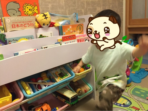【購入レビュー】1歳半年を過ぎたらおもちゃ収納ラックがオススメ!自分で片付けるようになりました