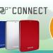 東芝から無料のクラウドストレージ10GBが付属したスタイリッシュなポータブルHDDが発表。レグザへの接続も可能。